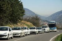 ترافیک در محدوده فیروزکوه و هراز سنگینتر شد