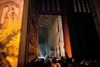 کلیسای نوتردام پس از آتش سوزی  +فیلم