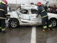 تصادف مرگبار در قزوین