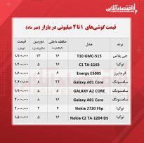 قیمت گوشی (محدوده ۲ میلیون تومان/ ۲۵مهر)
