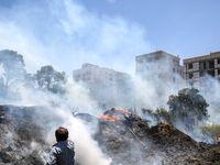 آتشسوزی باغ و فضای سبز جامعه الزهرا +تصاویر