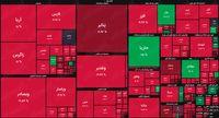 نقشه بازار سهام بر اساس ارزش معاملات/ محدوده حمایتی واعظی در هم شکست