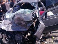 15 مصدوم در تصادف کامیون و پراید