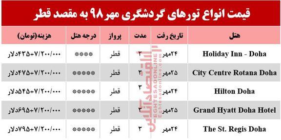 تور قطر چند تمام میشود؟