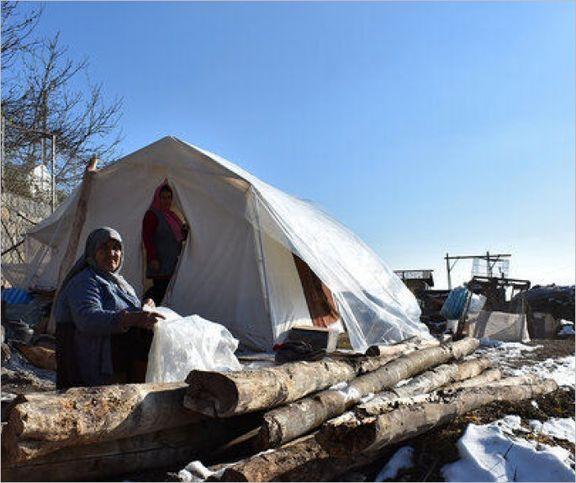 تازیانه سرما در چادرهای منفی صفر