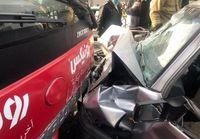 تصادف شدید پراید با BRT در خطویژه + عکس