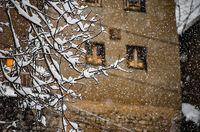 بارش برف در ماسوله +عکس
