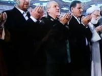 جهانگیری و قالیباف در نماز عیدفطر +عکس