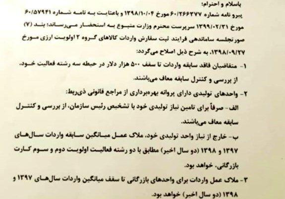 گمرک جمهوری اسلامی ایران , واردات ,