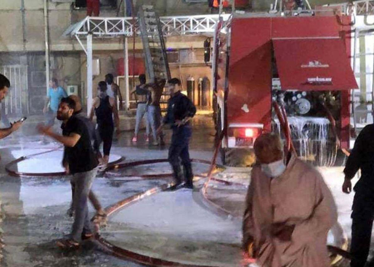 ۲۰کشته در آتش سوزی یک بیمارستان کرونایی در بغداد