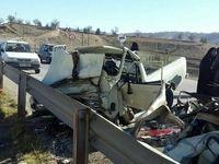 تصادف جادهای ۲کشته و زخمی برجا گذاشت