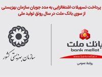 پرداخت تسهیلات اشتغالزایی به مددجویان بهزیستی از سوی بانک ملت