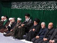 مقتدی صدر در کنار رهبر انقلاب و سردار سلیمانی +عکس