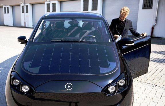 خودرویی با سقف خورشیدی +تصاویر