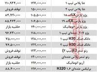 خودروهای زیر 150 میلیون بازار تهران +جدول