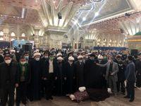 اقامه نماز سیدحسن خمینی بر پیکر آیت الله جلالی +عکس