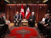 در دیدار روحانی با رییس جمهور سوئیس چه گذشت؟