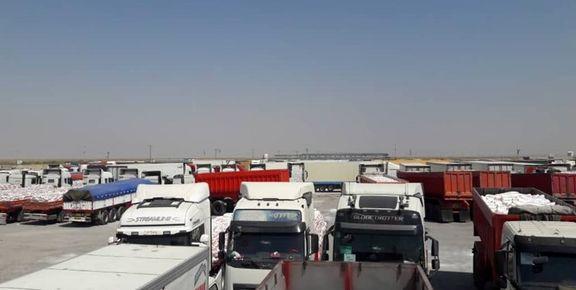 معطلی هزار کامیون صادراتی در مرز مهران