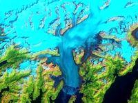 تصویری حیرت انگیز از  از آب شدن یخچالهای آلاسکا
