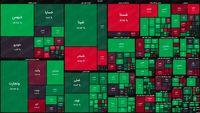 نقشه بورس امروز بر اساس ارزش معاملات/ افت شاخص کل در آغاز معاملات آخرین روز هفته