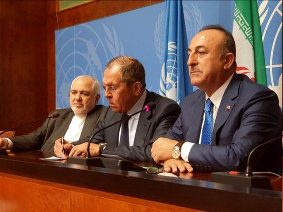 بیانیه مشترک وزیران امور خارجه ایران، روسیه و ترکیه
