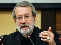 تاکید لاریجانی بر تعلیق روابط سیاسی کشورهای مسلمان با آمریکا/  دستور مجلس طرحی برای حمایت از آسیبدیدگان زلزله است