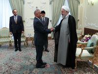 وزیر خارجه عمان به دیدار رئیسجمهور رفت +عکس