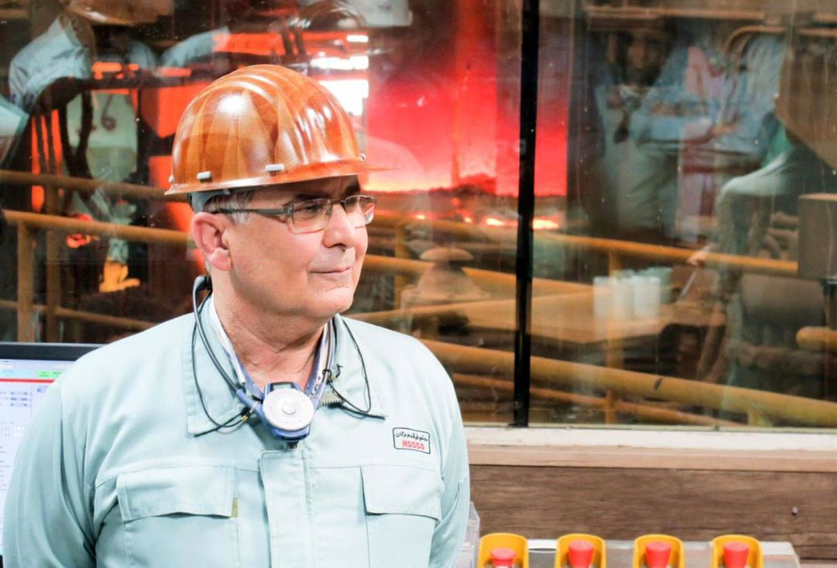 رکورد تولید ماهانه تختال در فولاد هرمزگان