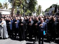 رئیسجمهور و دولتیها در دسته عزاداری امام حسین(ع) +تصاویر