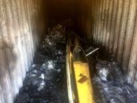 قایقهای هیات گناوه در آتش سوخت +تصاویر
