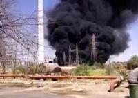 مهار آتشسوزی انفجار ترانس در نیروگاه زرگان+فیلم