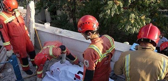 دفن شدن کارگرساختمانی زیر آوار