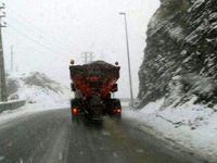 بارش برف و لغزندگی جادههای چالوس و طالقان