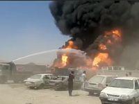 آتش سوزی گسترده در دولت آباد کرمانشاه +فیلم