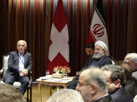 دیدار روحانی با رئیس جمهور سوئیس +تصاویر