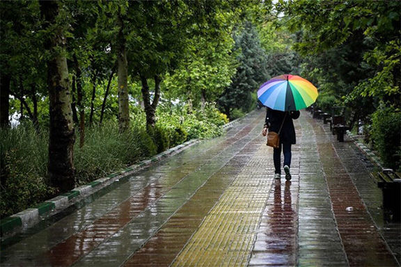 رگبار باران در ۱۳استان کشور