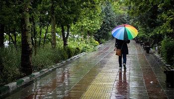 پیش بینی ۵ روز بارانی برای ۸ استان