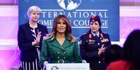 ملانیا ترامپ در مراسم اهدای جایزه زنان شجاع ۲۰۱۹ +تصاویر