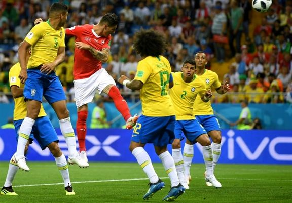 توقف برزیل مقابل سوئیس