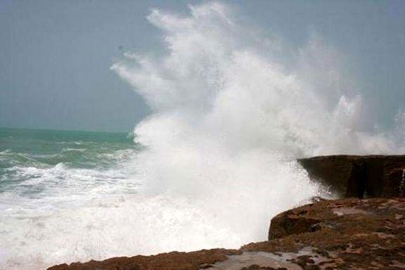 توفان «لوبان» امواج دریای عمان را به 3متر میرساند