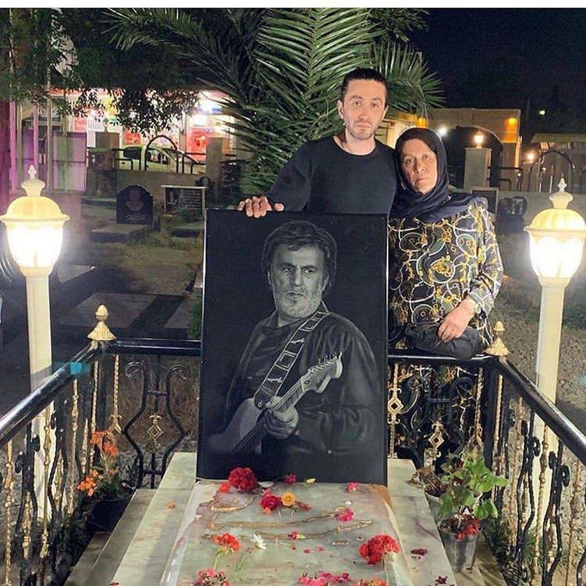 پسر و همسر حبیب در سومین سالگرد درگذشت او +عکس