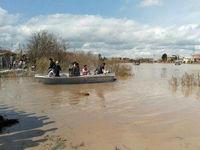 وضعیت حجم سیلاب در آق قلا +فیلم