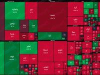 نقشه بازار سهام بر اساس ارزش معاملات/ بازار زور مثبت شدن ندارد