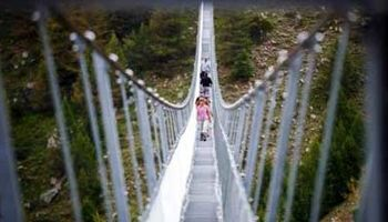 طولانیترین پل معلق عابران افتتاح شد +عکس