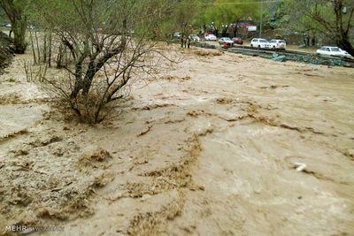 سقوط پژو ۴۰۵ به رودخانه کرج