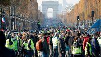 رویارویی پلیس با جلیقه زردها در فرانسه +فیلم