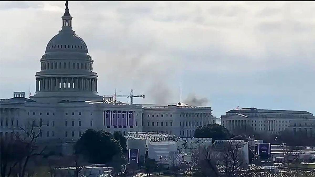 ساختمان کنگره به دلیل «تهدید نامعلوم» تعطیل شد +فیلم