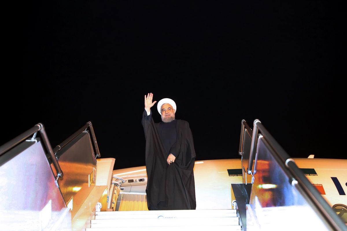 روحانی دهلی نو را به مقصد تهران ترک کرد