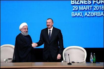 رییس جمهور در همایش تجاری ایران و آذربایجان +عکس