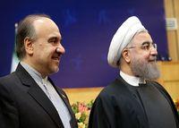 روحانی: چرا برای قهرمانان ورزش دست نمیزنی آقای زنگنه!